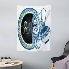 wandteppich aus weiches mikrofaser stoff für das wohn und schlafzimmer abakuhaus rechteckig authentic navy wassermann zeichen kaufen