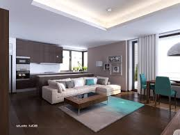 Brown And Aqua Living Room Decor by The Dark Wood Contrasting With The Neutral Paint Colors Really