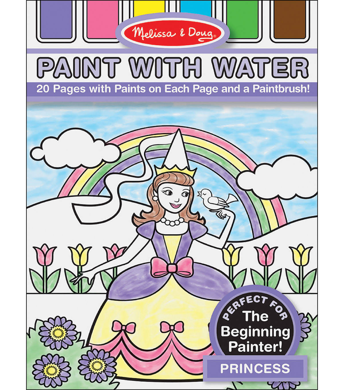 Melissa & Doug Paint With Water - Princess, 20 Pages