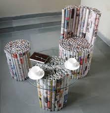 Magazine Crafts News Paper Furniture Newspaper CraftsRecycle