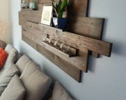 Modern Rustic Industrial Reclaimed Wood Wall Art Great For Above The Sofa