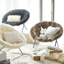 Faux Fur Round Chair New Sheepskin Cover Seat Pad Soft
