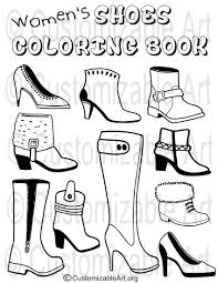 The Sneaker Coloring Book Download Printable Pdf Womens Girls Shoes By