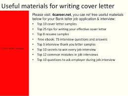 Resume Examples For Bank Teller Jobs Packed With Cover Letter Astonishing To Prepare