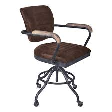Armen Living Brice Brown Office Chair LCBIOFSBBR - The Home Depot
