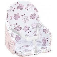 coussin chaise haute avec sangle looping coussin chaise haute sangles lapin cassis blanc et cassis