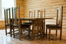 Furniture Design Lovable Dining Table Style Rustic Bungalow Mission Traditional