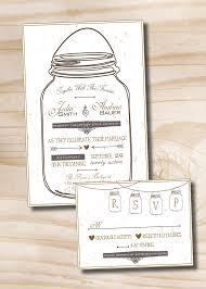 MASON JAR LOVE Mason Jar Rustic Wedding Invitation And Response