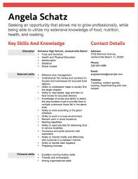 12 Free High School Student Resume Examples For Teens In Resumes Skills 2033