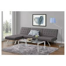 Target Room Essentials Convertible Sofa by Emily Convertible Futon Gray Dhp Target
