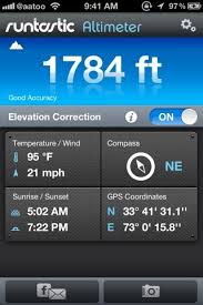 Find Your Altitude Weather Info & GPS Bearings iPhone iPad