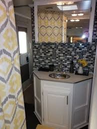 16 Year Old Jayco Travel Trailer Gets Interior Decor Makeover Remodel BathroomBathroom MakeoversRv Kitchen