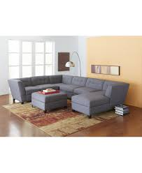 Macys Round Dining Room Table by Harper Fabric 6 Piece Modular Sectional Sofa Couches U0026 Sofas