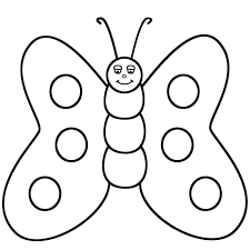 Butterfly Fatty Cute Coloring Pages Free Of Butterflies