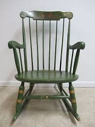 Nichols And Stone Windsor Rocking Chair by Vintage Paint Decorated Nichols And Stone Country Rocker Rocking