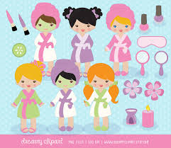 Spa Clipart Party Clip Art Girls