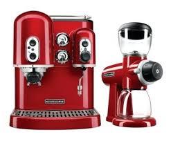 Kitchen Aid Coffee Maker Espresso Machine And Burr Grinder Duo Kitchenaid Red Siphon