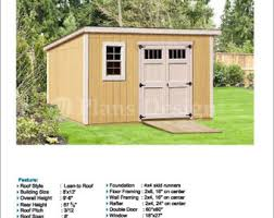 8x12 Storage Shed Blueprints by Shed Plans Etsy