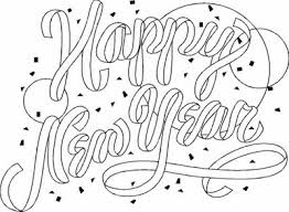 Happy New Year Coloring Printables