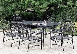 Stunning Black Metal Patio Furniture With Chiars Eva Outdoor