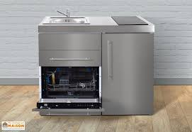 cuisine lave vaisselle mini cuisine inox avec lave vaisselle et vitrocéramiques mpgses110