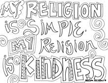 Love Kindness Coloring Pages
