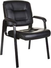 AmazonBasics Classic Leather Office Desk Guest Chair With Metal Frame -  Black Saiba Side Chair Herman Miller Kleos Compositeur Despace Standing Desks Swivel Chairs Office Amazoncom Winport Fniture Wf8107 Guess Cream Kitchen Costway Set Of 5 Conference Elegant Design Office Waiting Room Guest Reception Chairs Free Shipping With Every Purchase Hjhofficees Desk Without Wheels Visual Hunt Resource Transforming Spacesaving Modern Leather Or Solid Wood Legs In Black 2 Decorative For Popular Velvet Accent Armchairs Borne Strong Steel Visitor Buy Chairoffice Chairguest China Sled Base Fect13