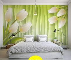 neueste 3d green hintergrund weiße lilien große wandbilder wohnzimmer tv sofa schlafzimmer tapeten für wand 3d papel de parede