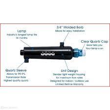 aqua ultraviolet 15 watt advantage 2000 in line uv sterilizer