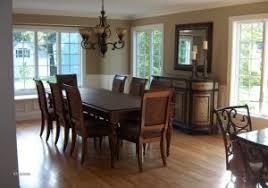 Dining Room Dark Wood Floors Table Elegant Solid Tables