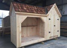 designed to hold four cords of wood this wood shed is our most
