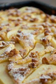 blechkuchen mit birnen und walnüssen
