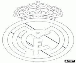 Emblem Of Real Madrid CF Coloring Page Printable Game