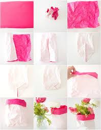 DIY Paper Sack Vase Realistic Faux Flowers
