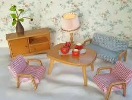 details zu ems wohnzimmer sofa sessel tisch schrank möbel 50er 60er jahre puppenstube