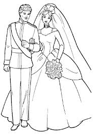 Barbie Wedding Coloring Pages Print