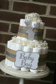 Find Out About 2 Tier Deer Head Diaper Cake Burlap Gender Impartial Winter Searching Child Bathe Rustic Decor Centerpiece Silver Grey White