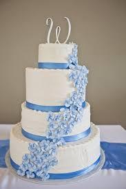 beautiful white and blue wedding cakes 9