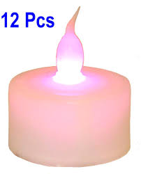 Flameless LED Color Changing Tea Light Candles Set of 12