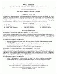 Construction Project Manager Resume Examples Example A