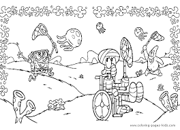Spongebob Color Page Cartoon Characters Coloring Pages Plate Sheetprintable