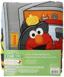 amazon com sesame street fire department 4 piece set