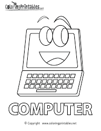 Fancy Computer Coloring Pages 18 For Your Free Book With
