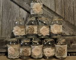 Wedding Centerpieces Rustic Bridal Shower Decorations Burlap And Lace