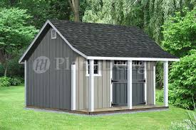16x20 Shed Plans With Porch by 14 U0027 X 12 U0027 Backyard Storage Shed With Porch Plans P81412 Free