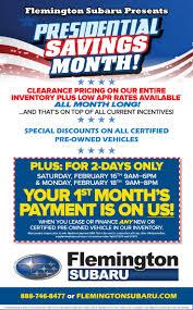 100 Flemington Car And Truck Country Presidential Savings Month At Subaru Subaru Specials