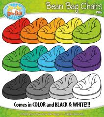 FREE Rainbow Bean Bag Chairs Clipart