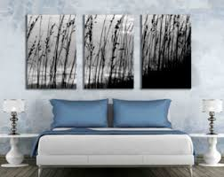 Three Panel Wall Art Gallery Wrapped Canvas 16 X 24 Or 12 18 Inch Black