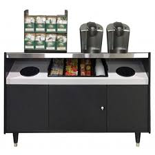 All State OCS490TRSF Condiment Office Coffee Stand Twin Trash Cutes