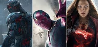 New Age Of Ultron Posters With Avengers Newbies Vision Scarlet Witch And Quicksilver